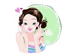 美容插画女孩图片