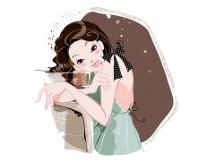 时尚卡通美女图片