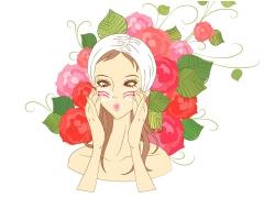 美容护肤美女图片