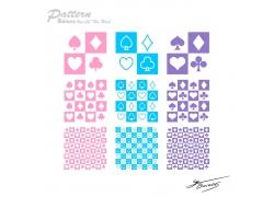 扑克牌图案背景