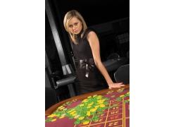 赌场里的性感美女