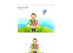 销售人员插画素材