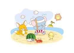 卡通动物插画素材图片
