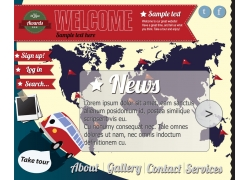 世界地图模板图片