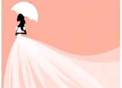 穿婚纱的卡通美女