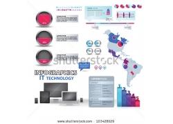 信息图形和图表设计元素集