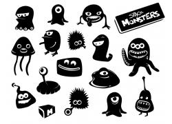 卡通怪物图片