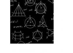 黑板上的几何图形