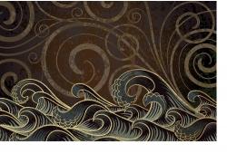复古水纹背景