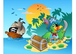 海盗与宝藏图片