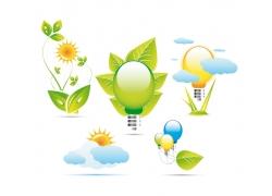 绿色环保图标矢量图片