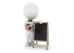 商业服务3D小人