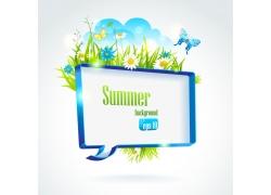 夏日促销展板背景