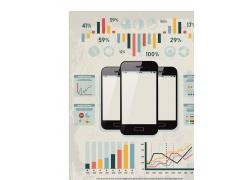 信息图形和智能手机矢量素材