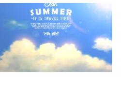 暑假旅游海报背景