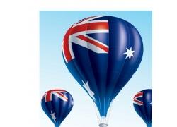 澳大利亚国旗热气球图片