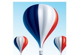 国旗热气球图片