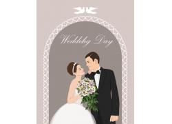 新郎新娘插画