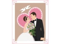 卡通新郎与卡通新娘