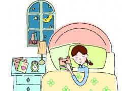 睡觉的卡通美女图片