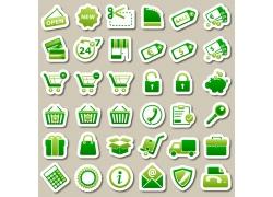 购物图标设计素材图片