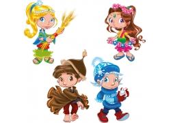 卡通儿童插画素材图片