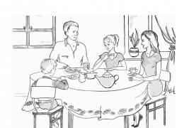 吃饭的人物插画素材图片