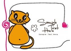 卡通动物插画背景图片