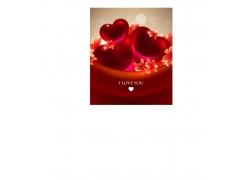 情人节海报背景图片