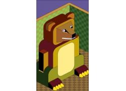 矢量动物插画背景图片