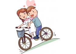 骑自行车的卡通人物