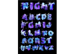 闪光立体英文字母