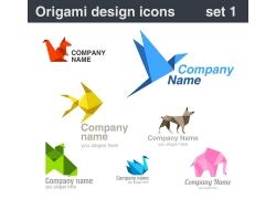 矢量动物折纸设计图片