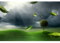 绿色环保宣传背景