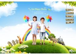 可爱的韩国儿童素材图片
