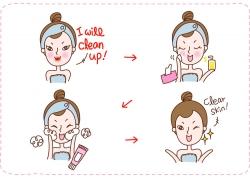 化妆的卡通女孩图片