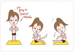 健身女孩图片