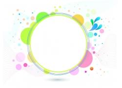动感圆环背景
