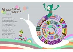 卡通蜗牛图片