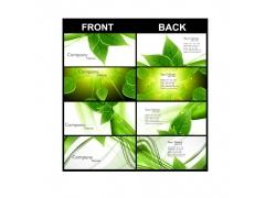 绿色风格名片模板
