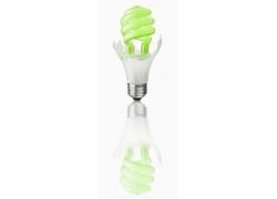 绿色环保灯泡图片