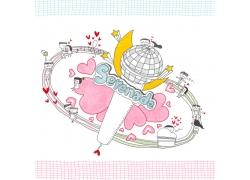情人节插画素材图片