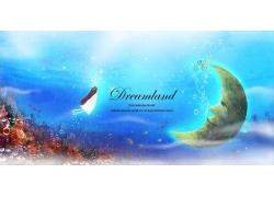 梦幻海底世界背景图片