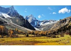 雪山风光摄影素材