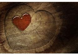 爱心木制背景