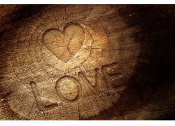 爱心图片木制背景
