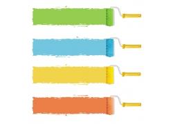 色漆刷子矢量素材