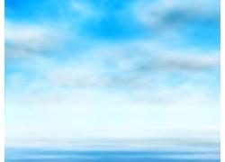 矢量天空白云背景