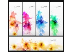 花卉横幅背景素材