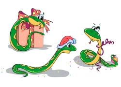 蛇跟圣诞节礼物